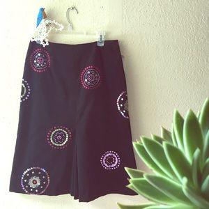 SUSAN BRISTOL Party Girl velvet skirt w/ sequins